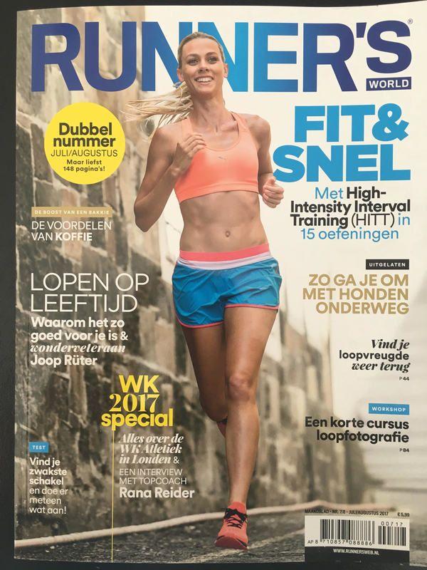 Cover van Runnersworld magazine van juli/augustus 2017